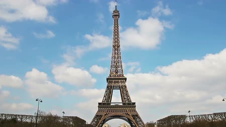 башни : Eiffel Tower, Paris, France, Europe. Time Lapse