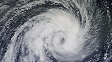 bouře : The hurricane over the ocean., Satellite view.