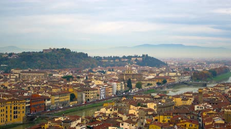 florencja : Beautiful aerial view of Florence from the observation platform of Palazzo Vecchio.