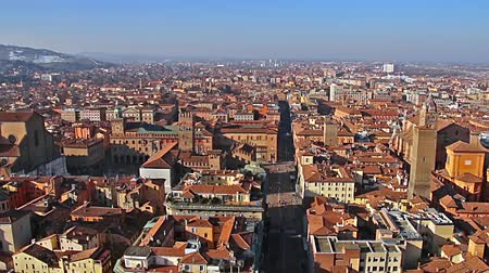 bolognai : Panorama of old Bologna, Italy.