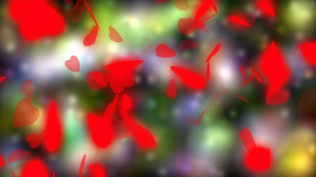 esküvő : Valentines day and wedding abstract background,flying red hearts and particles. Symbols of love, passion and wedding.