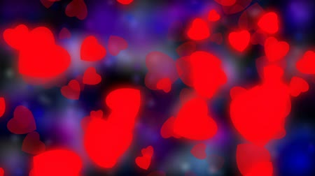 sadece : Valentines day and wedding abstract background,flying red hearts and particles. Symbols of love, passion and wedding.