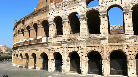 amphitheatre : Colosseum - the main tourist attractions of Rome, Italy. Ancient Rome Ruins of Roman Civilization.