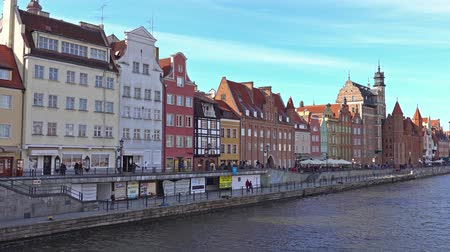 europe population : GDANSK, POLAND - May 07 2017: Gdansk Old Town and Motlawa River.