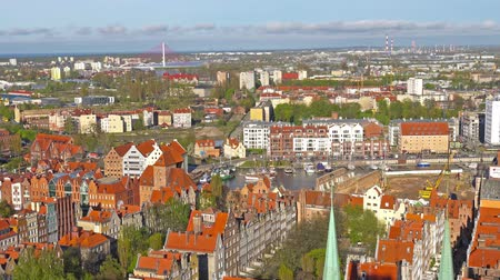 europe population : GDANSK, POLAND: Aerial panoramic view of Gdansk.