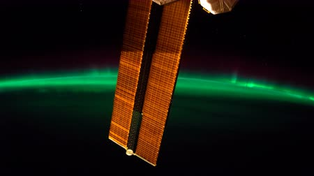 stratosphere : Earth and Aurora Borealis from ISS.