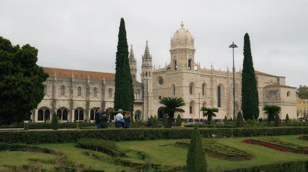 convento : LISBON, circa 2018: Jeronimos Monastery or Hieronymites Monastery. Lisbon is continental Europes westernmost capital city and the only one along the Atlantic coast.