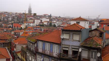 cserepezés : Porto, circa 2018: Panoramic view of the old city of Porto. Portugal, Porto Ribeiras view. Panorama old city Porto at river Duoro.