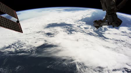 Planet Earth seen from the ISS. Beautiful Planet Earth observed from space. Nasa time lapse shooting earth from space. Elements of this video furnished by NASA.