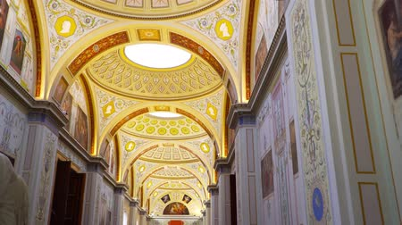 artifacts : St. Petersburg, Peterhof, Russia, June 2018: Winter Palace. The halls of state Hermitage Museum in St. Petersburg. Hermitage Museum, is the greatest museums in the world, founded in 1764.