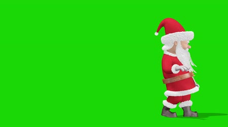 Santa Claus is doing magic. Merry Christmas and Happy New Year 2020 animation. On Green screen.