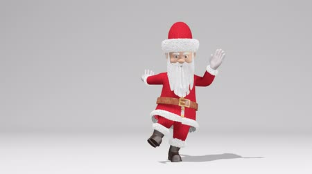 Santa Claus dancing. The concept of Christmas and New Year. With alpha channel. Seamless Loop.