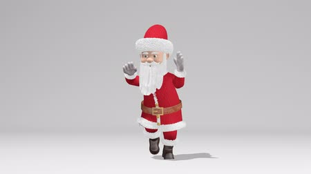 святой : Santa Claus dancing. The concept of Christmas and New Year. With alpha channel. Seamless Loop.