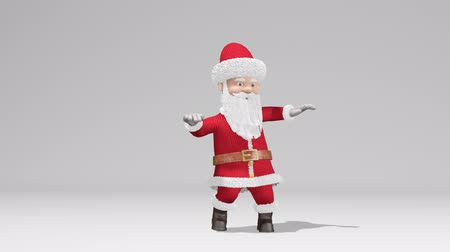 klauzule : Santa Claus dancing. The concept of Christmas and New Year. With alpha channel. Seamless Loop.