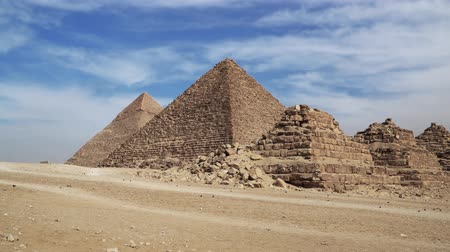 historical : The Great Pyramids In Giza Valley, Cairo, Egypt