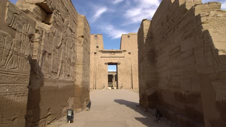 kahire : Edfu also spelt Idfu, and known in antiquity as Behdet. Edfu is the site of the Ptolemaic Temple of Horus and an ancient settlement. Egypt.