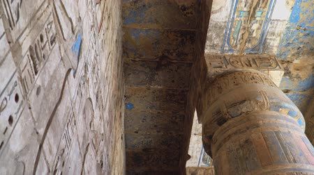 kahire : Temple of Medinet Habu. Egypt, Luxor. The Mortuary Temple of Ramesses III at Medinet Habu is an important New Kingdom period structure in the West Bank of Luxor in Egypt.