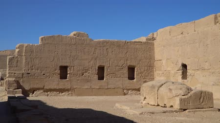 ルクソール : The Mortuary Temple of Seti I is the memorial temple of the New Kingdom Pharaoh Seti I. It is located in the Theban Necropolis in Upper Egypt, across the River Nile from the modern city of Luxor.