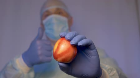 antimicrobial : The doctor shows the patient nectarine. Calls for a healthy diet. Take natural vitamins.