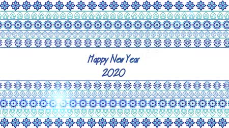 Blue new year Stockvideo