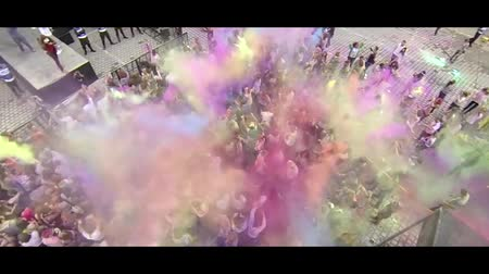 festivais : Holi Colors Festival in Romania 2 - Aerial video