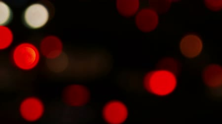 xenon lights : Defocused red night traffic lights urban night time in big city