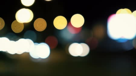 xenon lights : Urban Night Scene. Defocused night traffic lights abstract background