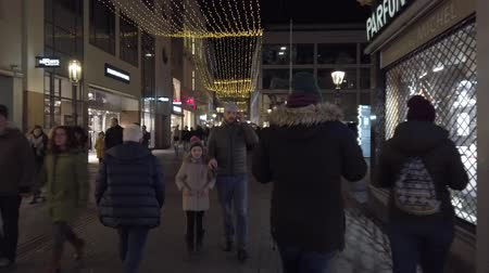 Bonn Germany, 30 November 2019: Hyperlapse street in the center of Bonn City. People walking in the street one of the most representative historical centers of Germanys cityes hyperlapse clip