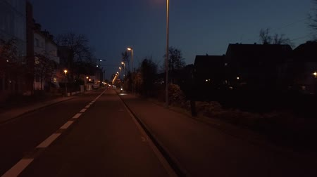 Bonn Germany, 30 November 2019: POV Riding streets in the night of Bonn Germany hyperlapse footage clip FHD