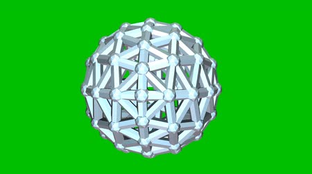 3d animation. Rotating sphere on a green background.