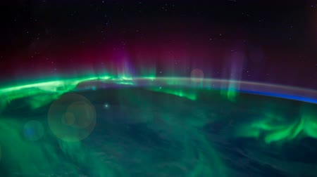northern nature : ISS view of Aurora Australis over the Indian Ocean 2