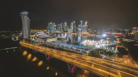 no traffic : Singapore Time Lapse Of Marina Bay And The New City Skyline