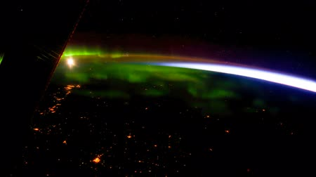 programa : Planet Earth seen from the International Space Station with Aurora over the earth, Time Lapse 4K. Vídeos