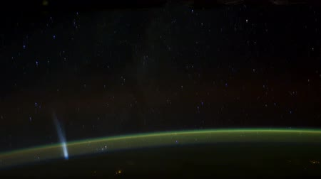 astronauta : Rotating Planet Earth, as seen from the International Space Station. Time Lapse 4K
