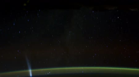 international space station : Rotating Planet Earth, as seen from the International Space Station. Time Lapse 4K