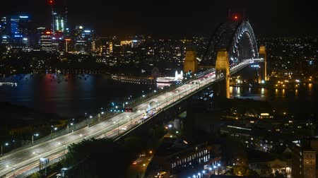 balsa : 4k UHD time lapse of night scene at Sydney city skyline. Zoom out