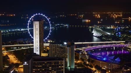 cbd : Night scene at Singapore Marina Bay.