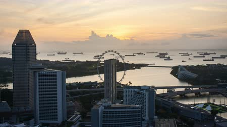 Time lapse of sunrise at Marina Bay Singapore. Vídeos