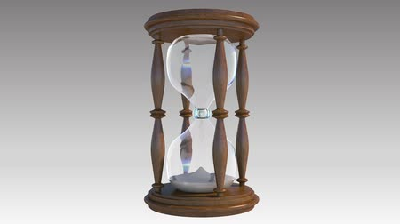 ampulheta : A realistic 3d hourglass with animated sand passing from one chamber to the next. Animated light move from left to right.