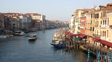 veneza : Point of view from Rialto bridge, time-lapse