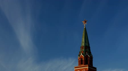 moskwa : Moscow Kremlin Tower, time-lapse