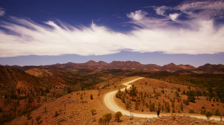 geological feature : Flinders Ranges, Outback, Australia Stock Footage