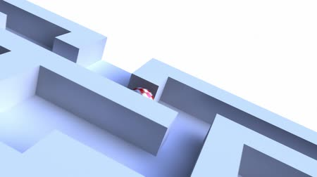 hedef : 3d video of a ball in a maze searching for the exit