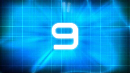 sciencefiction : Technologische Countdown Intro Stockvideo