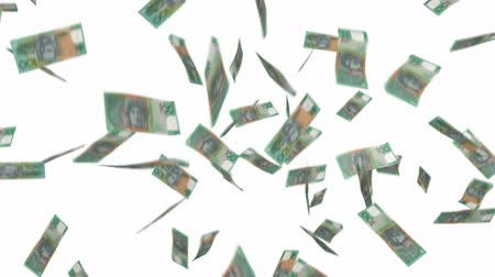 Raining dollars background