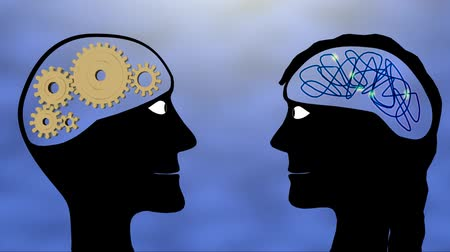Male and female brains Wideo