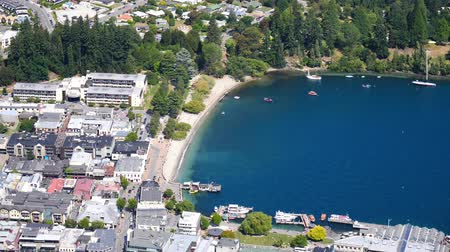 Queenstown, New Zealand, seen from above