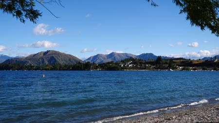 wavelets : Lake Wanaka, New Zealand Stock Footage