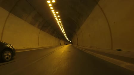 prędkość : Driving On A Mountain Road With Tunnels In Greece