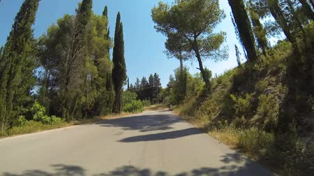 görögország : Driving On A Mountain Road On Zakynthos Island, Greece - 3 Times Faster